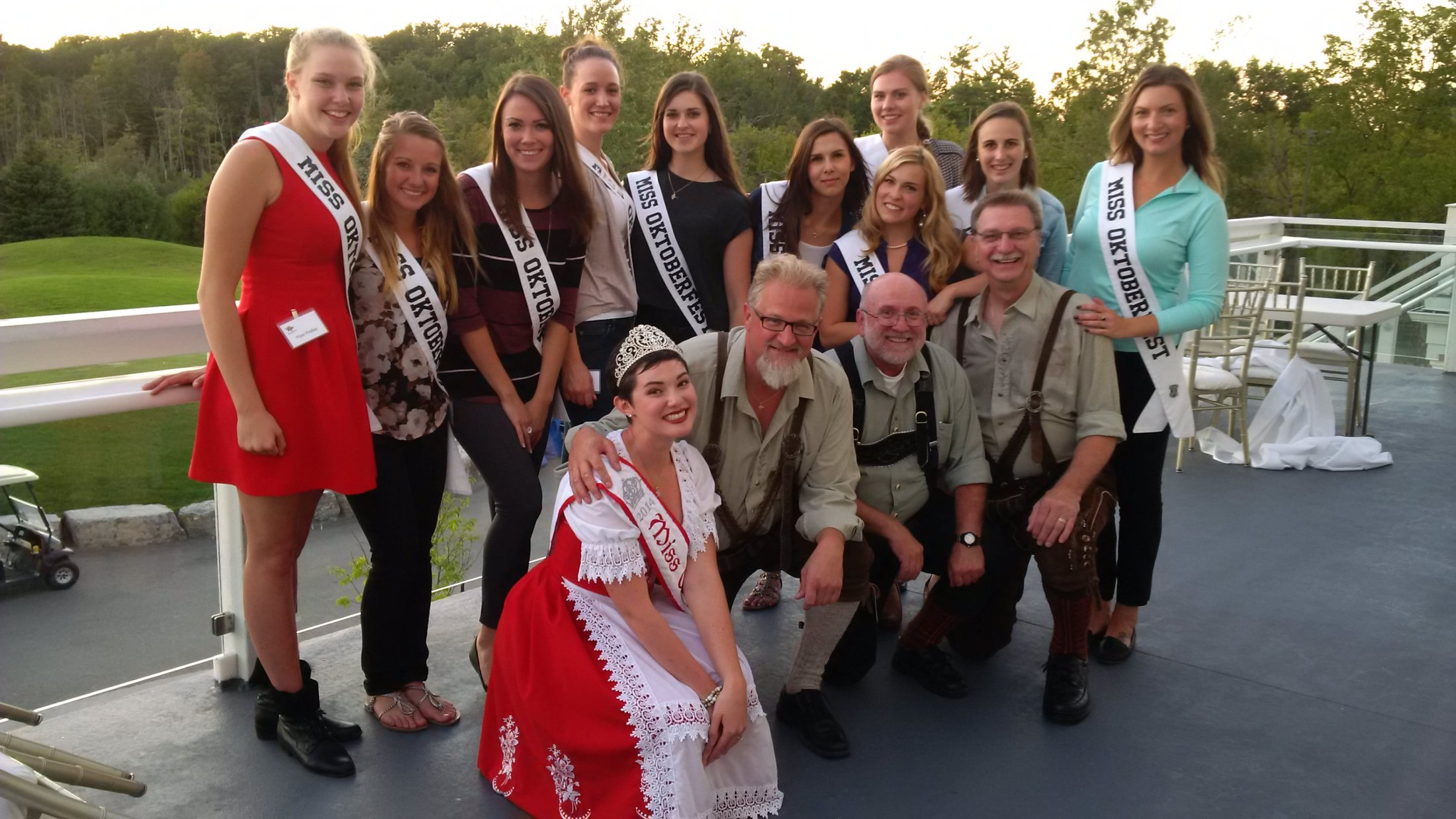 Surrounded by all the 2015Miss Oktoberfest candidates! PROST!