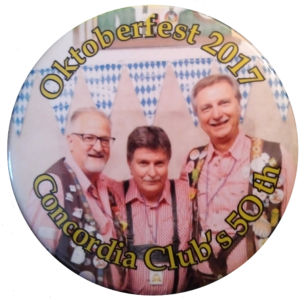 2017-10-06 Oktoberfest 2017 Concordia Club\'s 50th Button
