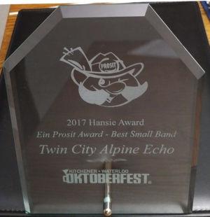 2017 Hansie Award Ein Prosit Award Small Band 01