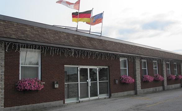 Aylmer Saxonia Hall building - Logo
